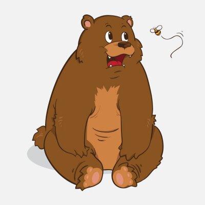 Naklejka brązowy niedźwiedź
