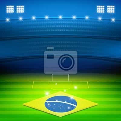 brazylia piłka nożna stadion w tle