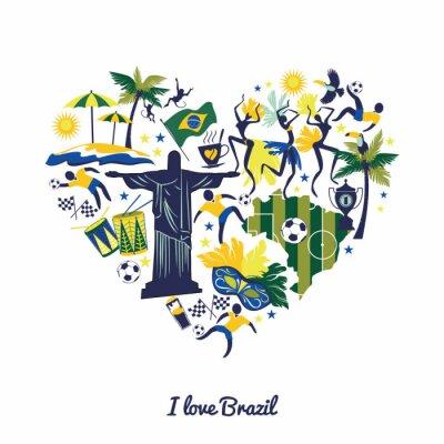 Naklejka Brazylia tle
