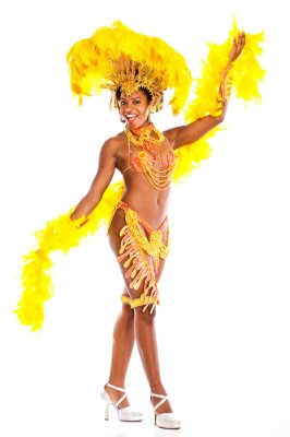 Naklejka Brazylijska Samba dancer