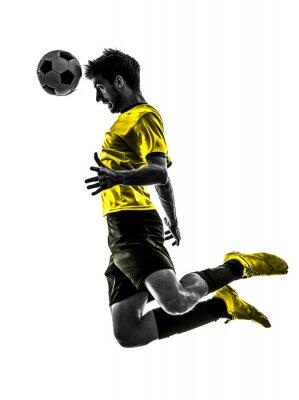brazylijski piłkarz piłka nożna sylwetka młody człowiek pozycji