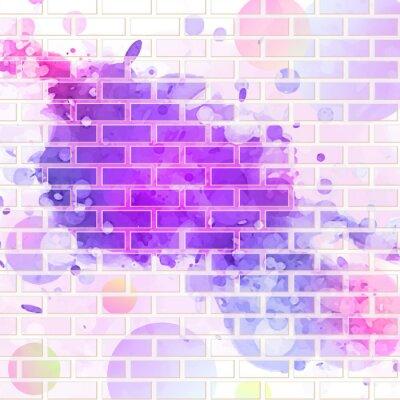 Naklejka brickwall, graffiti