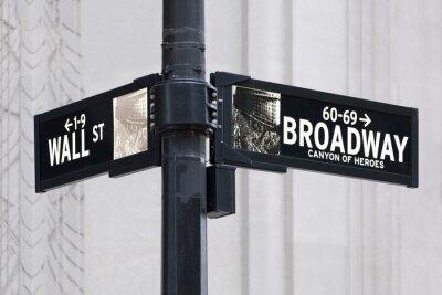 Naklejka Broadway nam Wall Street w Nowym Jorku