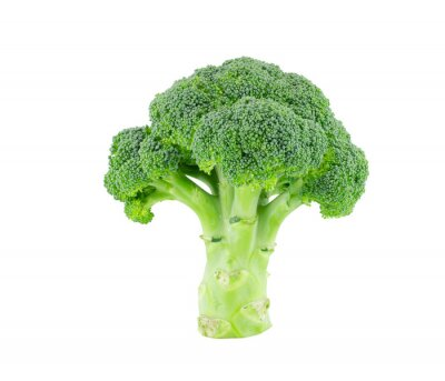 Naklejka Broccoli isolate on white with clipping path