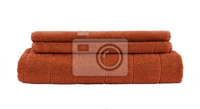 Brown ręczniki samodzielnie na białym tle