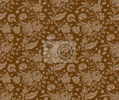 Brown szwu z rocznika bukiety kwiatów