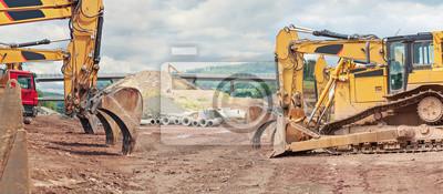 Naklejka budowa autostrady