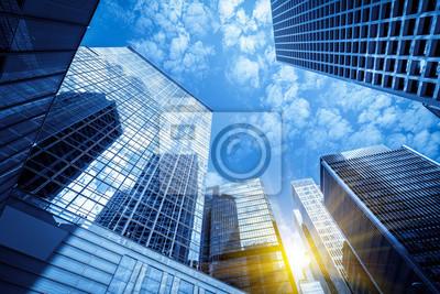 Naklejka Budynki handlowe w Hongkongu są niskie, Chiny,