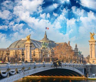 Naklejka budynki Paryż i zabytków