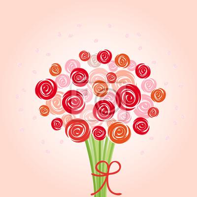 bukiet czerwonych kwiatów