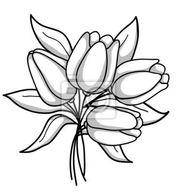 Bukiet tulipanów monochromatycznych