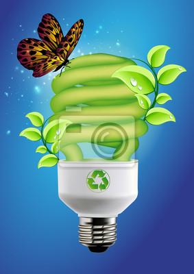 Naklejka Bulb - Koncepcja ekologiczne