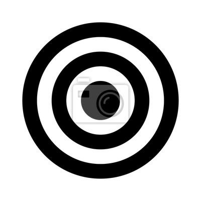 Naklejka Bullseye docelowa lub strzałka cel płaskim ikona aplikacji i stron internetowych