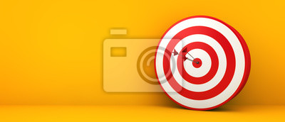 Naklejka bullseye on yellow background