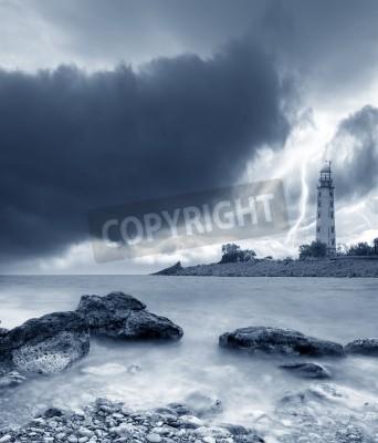 Naklejka Burza na morzu