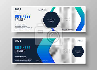 business banner design in blue theme