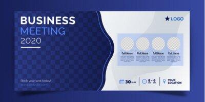 Business meeting banner template
