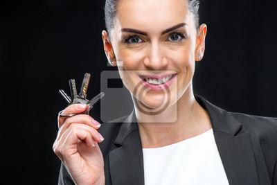 Businesswoman klucze holdingowe