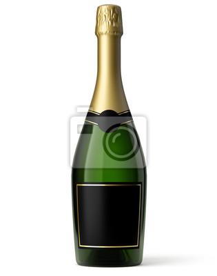 Butelka szampana na białym tle 2