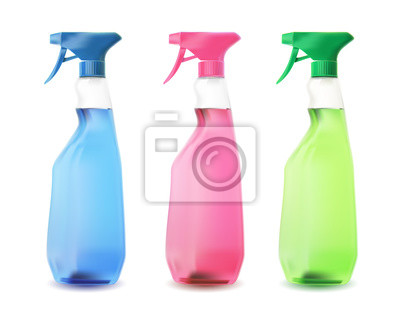 butelki sprayu koloru.