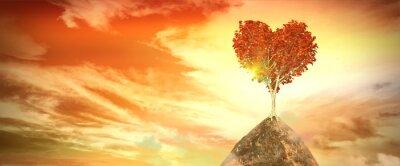 Naklejka ca z drzewa serca