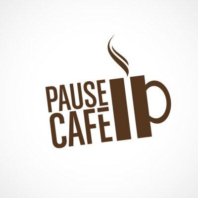 Naklejka Cafe Pause