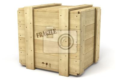 Caisse de bois sur fond blanc 1