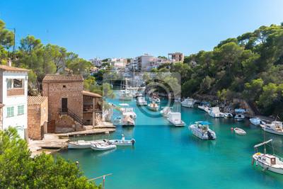 Naklejka Cala Figuera, zmieniać Bootshafen - Mallorca - 4084
