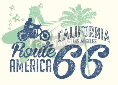 Naklejka california retro route 66 vector art