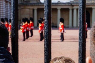 Naklejka Cambio de la guardia real en el Palacio de Buckingham
