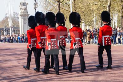 Naklejka Cambio guardia real en Londres