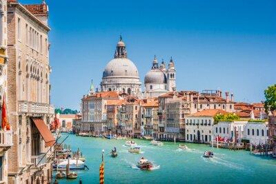 Naklejka Canal Grande z bazyliki Santa Maria della Salute, Wenecja, Włochy