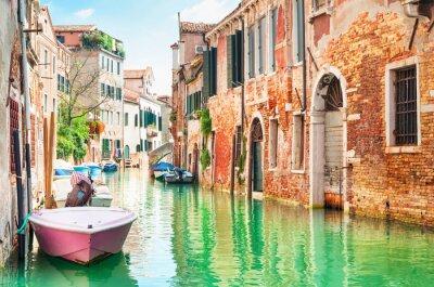 Naklejka Canal in Venice, Italy.