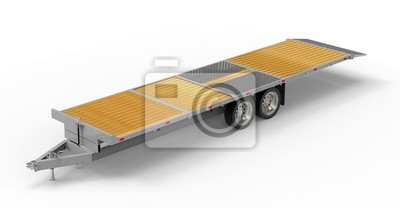 Naklejka car trailer isolated on white