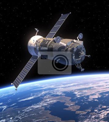 """Cargo kosmiczne """"Postęp"""" orbicie Ziemi"""