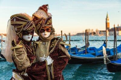 Naklejka Carnevale Venezia