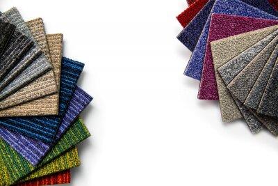 carpet samples on white background