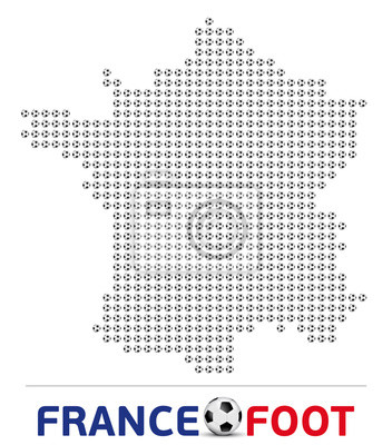 Carte de France - Balony de Foot