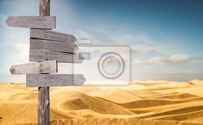 Naklejka cartelli segnaletici nel deserto