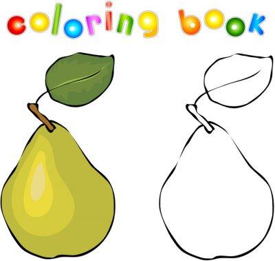 Naklejka Cartoon gruszki Coloring Book