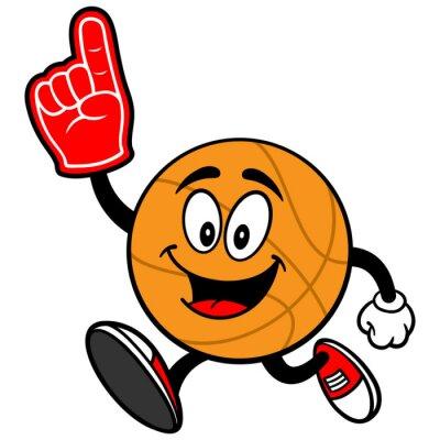 Cartoon Koszykówka Biegając z pianki palca