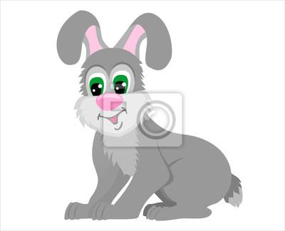 Cartoon królik samodzielnie