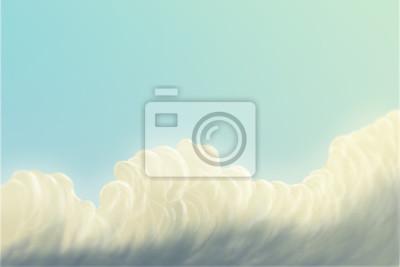 Cartoon niebo / chmury / digital painting / ilustracja