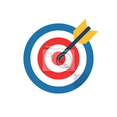 Naklejka cel, wyzwanie, ikona celu