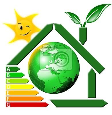 Certificazione energia con globo terrestre e jedynym