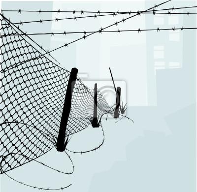 Chain Link Fence, a drut kolczasty ilustracji wektorowych