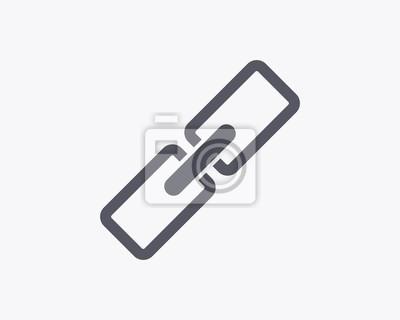 Chain Link Icon - ilustracji wektorowych. Minimalna cienka konstrukcja linii.