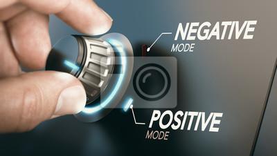 Naklejka Change to positive attitude. Psychology concept.