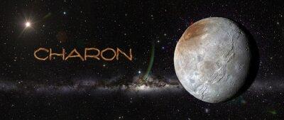 Naklejka Charon w przestrzeni kosmicznej.