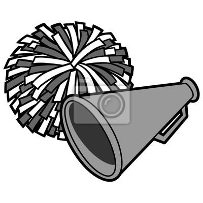 Cheerleaderek ikona ilustracja - ilustracja kreskówka wektor z cheerleaderek ikona.